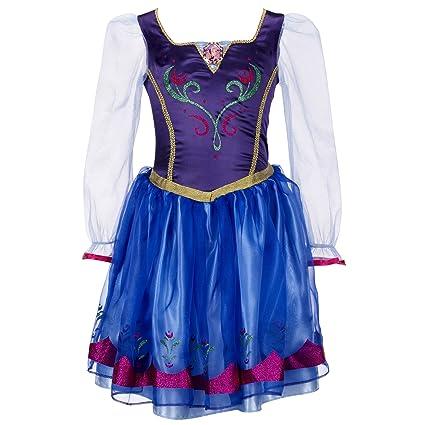 Disney Frozen Anna Vestido de Traje | 4-6X: Amazon.es ...