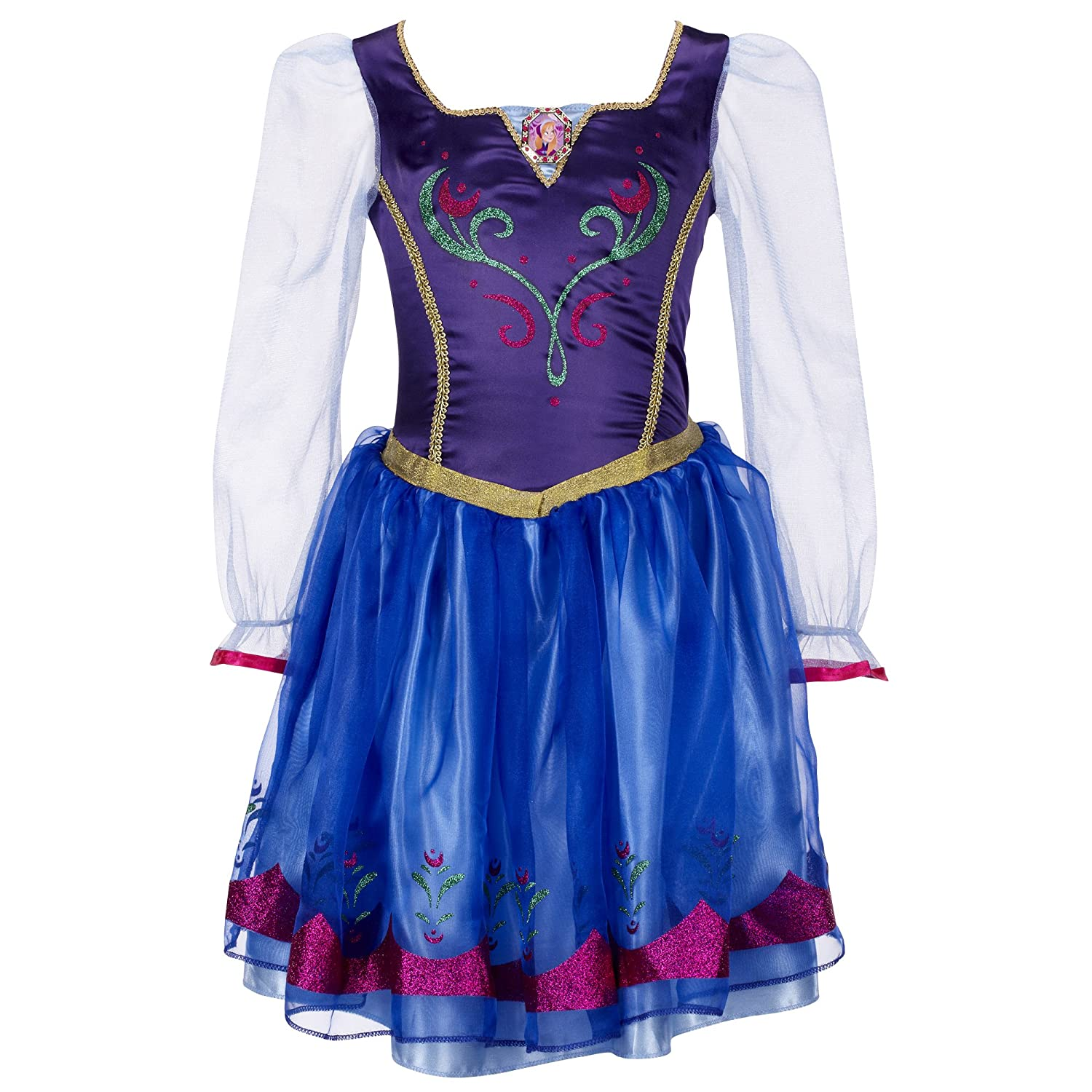 Disney Girls Anna Halloween Party Character Costume