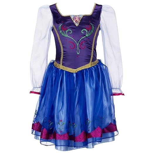 ba5c2a8aeeeb Amazon.com: Disney Store Frozen Princess Anna Costume Size Medium 7/8 (With  Cape): Toys & Games