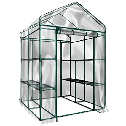 Home-Complete Walk-In Greenhouse- Indoor Outdoor with 8 Sturdy Shelves-Grow  Plants, Seedlings, Herbs, or Flowers In Any Season-Gardening Rack