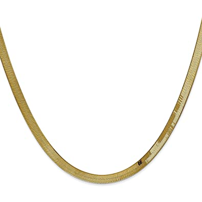 Amazon.com  14K Gold 4mm Herringbone Chain 18