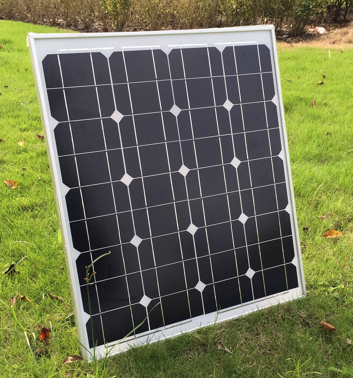 SUNDELY® 50W 12V Monocrystalline Solar Panel Kit for Camping Boating Motorhome Caravan + 3 Meter Cable & MC4 Connectors