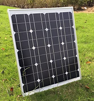 SUNDELY® 50W 12V Monocrystalline Solar Panel Kit for Camping Boating  Motorhome Caravan + 3 Meter Cable & MC4 Connectors