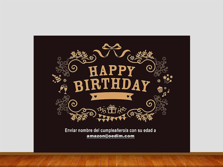 Photocall Cumpleaños 2x2m   Photocall Personalizado con tu ...