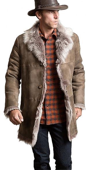 Overland Sheepskin Co Jackson Toscana Sheepskin Coat at Amazon ...