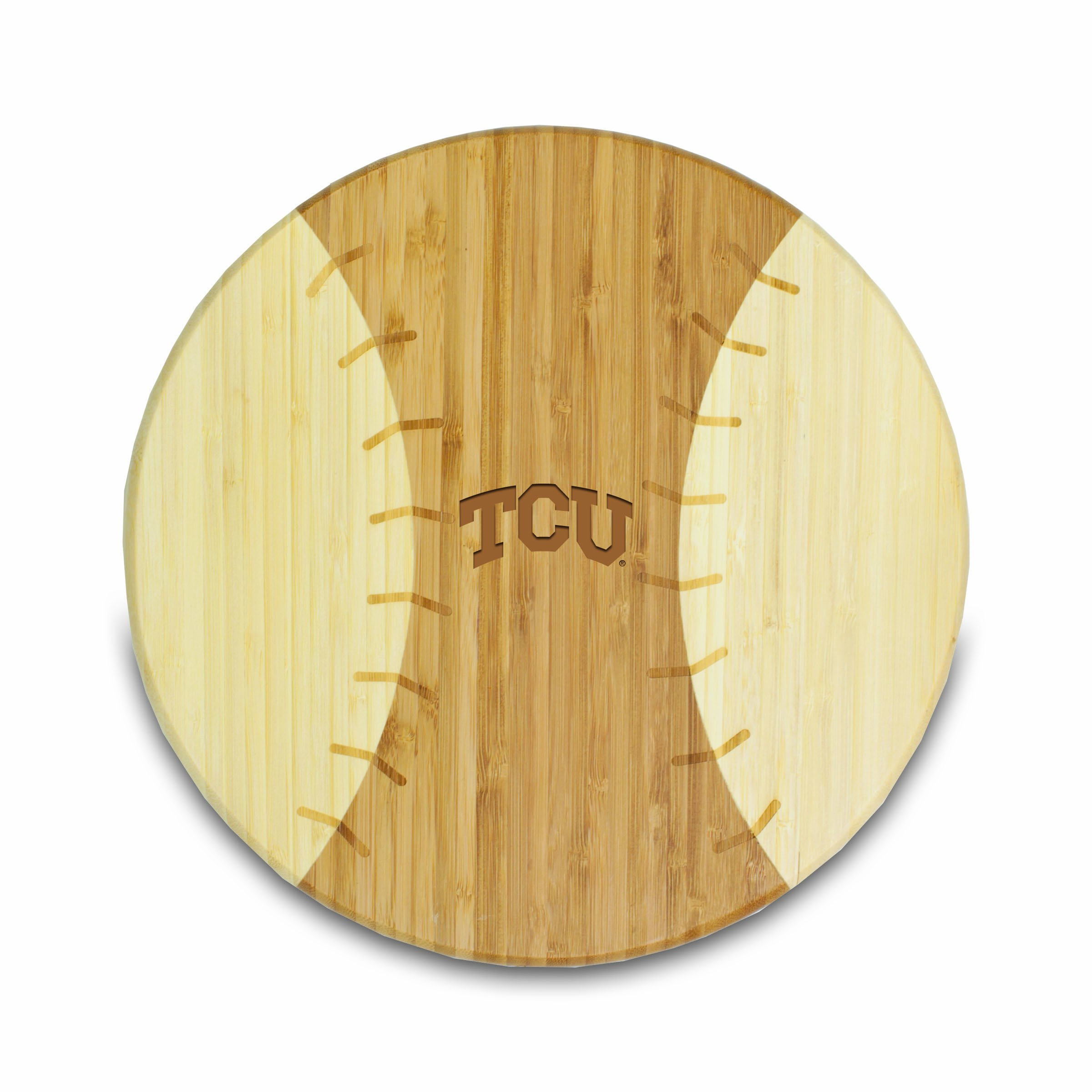 PICNIC TIME NCAA Texas Christian Horned Frogs Homerun! Bamboo Cutting Board with Team Logo, 12-Inch by PICNIC TIME