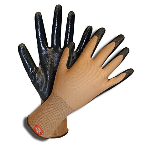Dickies Unlined Leather Workwear Gloves Tan