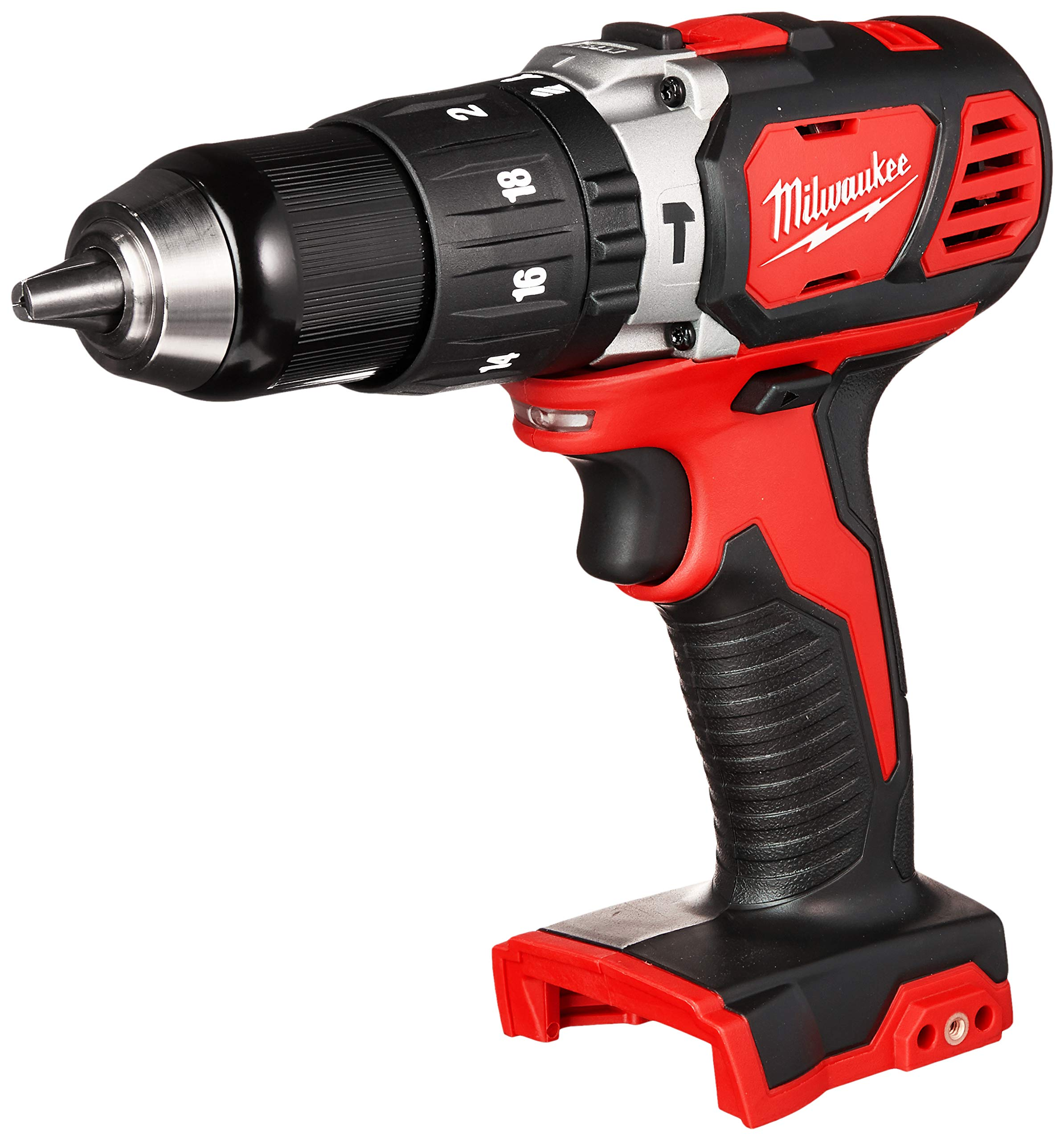 Milwaukee 2607-20 1/2 Inch 1,800 RPM 18V Lithium Ion Cordless Compact Hammer Drill / Driver with Textured Grip, All Metal Gear Case, and LED Lighting by Milwaukee