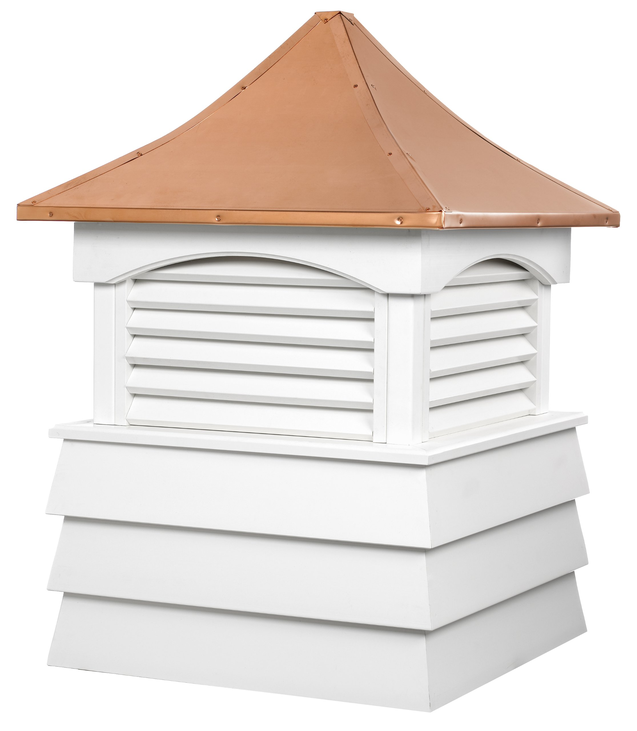 Good Directions Sherwood Vinyl Shiplap Cupola with Copper Roof 84'' x 107''
