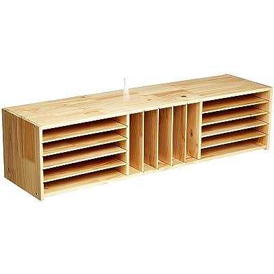 Basics Wooden Multi-Section Storage Organizer Cabinet: Industrial & Scientific