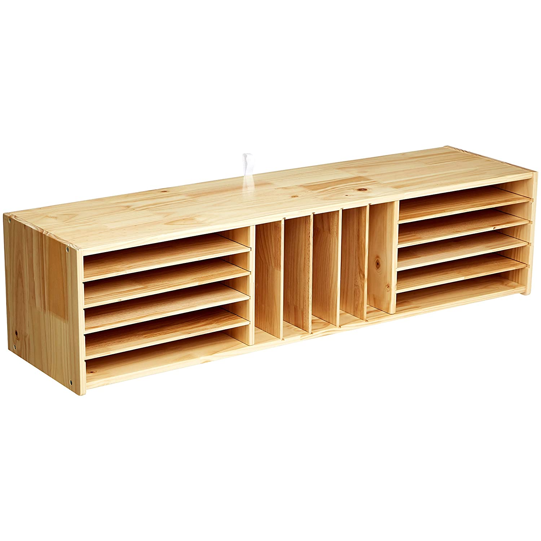 AmazonBasics Wooden Multi-Section Storage Organizer Cabinet
