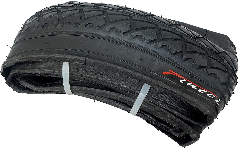 Fincci 26 x 1.95 Pouces 53-559 Pliable Pneu Lisses pour Route VTT Montagne Hybrid V/élo Bicyclette