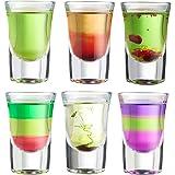 VonShef Shot Liqueur Glasses Set of 6 Quality 25ml Shooter Glasses Made Of Glass