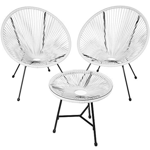 TecTake 800730-2 sillones Acapulco de jardín de diseño Retro ...