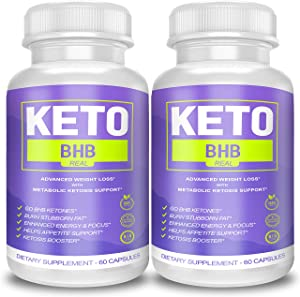 Keto BHB Real Capsules for Weight Loss, Keto BHB 800 Pills for Real Energy, Focus, Metabolism Boost - Premium Advanced Powder Exogenous Ketones for Rapid Ketosis Diet for Men Women - 2 Bottles