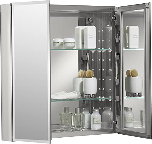 Kohler K-Cb-Clc2526Fs Frameless 25 Inch X 26 Inch Aluminum Bathroom Medicine Cabinet Recess Or Surface Mount