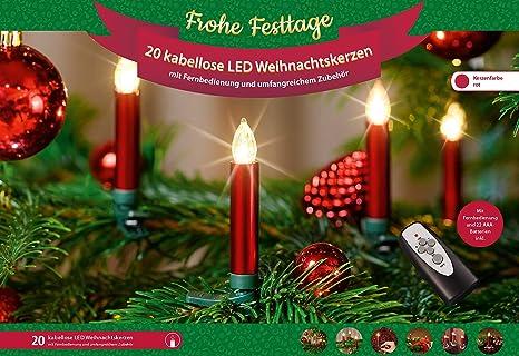 Weihnachtsbeleuchtung Innen Kabellos.20 Premium Weihnachtskerzen Zubehör Kabellos Timer