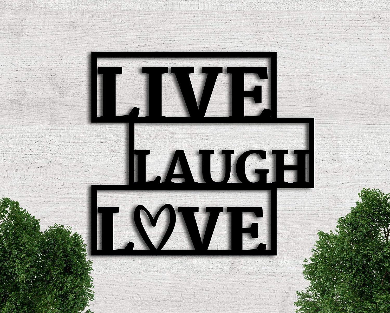 Tamengi Live Laugh Love Sign, Live Laugh Love Wall Decor, Metal Wall Art, Metal Sign, Living Room Decor, Live Laugh Love Wall Art, Metal Word Sign