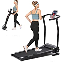 Aceshin Folding Treadmill Electric Running Machine Auto Stop Safety Function Treadmill with LCD Monitor Running Walking…