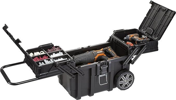 Keter 233743 Job Box - Carro Horizontal, Negro, 62.6 x 35.3 x 39 ...