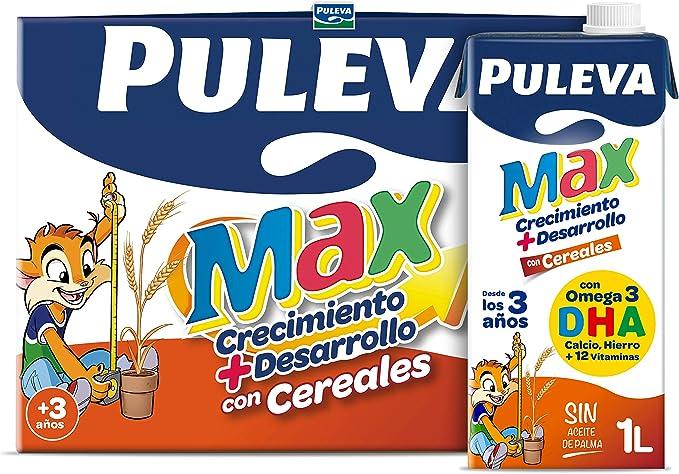 Puleva Max Leche de Crecimiento y Desarrollo con Cereales - Pack 6 x 1Lt: Amazon.es: Alimentación y bebidas