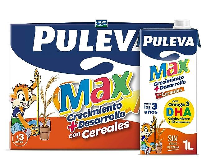 Puleva Max Leche Crecimiento y Desarrollo con Cereales - 6 x 1 L ...