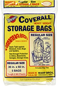"Warp Brothers FBA_CB-36 CB-36 Banana, 5-36""x60"" Regular Storage Bags"