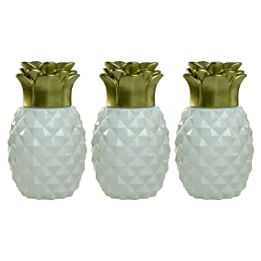 Tiki Brand 1117077 Pineapple Glass Table Torch (3 Pack), White