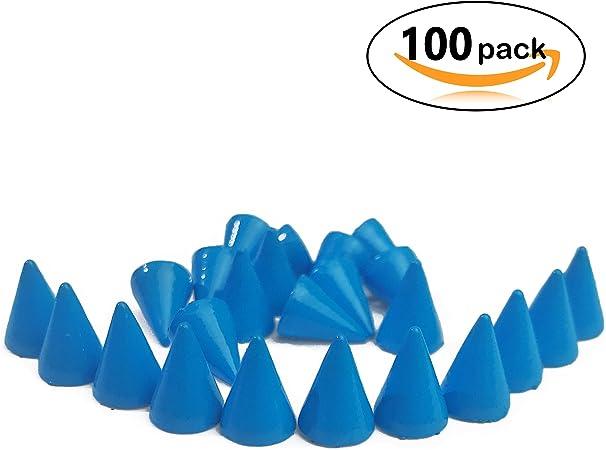 20 20pcs Cone Spikes Screwback Studs DIY Craft Cool Rivets Punk Stud Coincal Layer 10x25mm 3//8x1