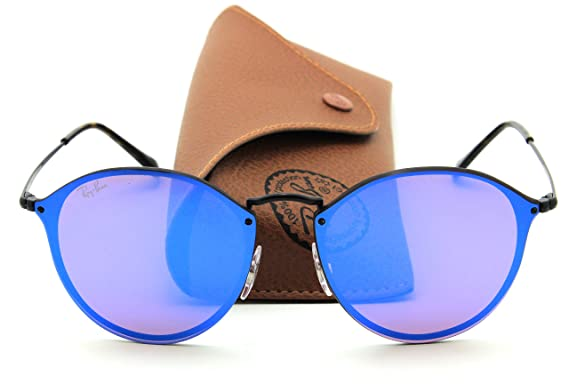 dd4c09ac835 Image Unavailable. Image not available for. Color: Ray-Ban RB3574N BLAZE  ROUND Mirror Sunglasses ...