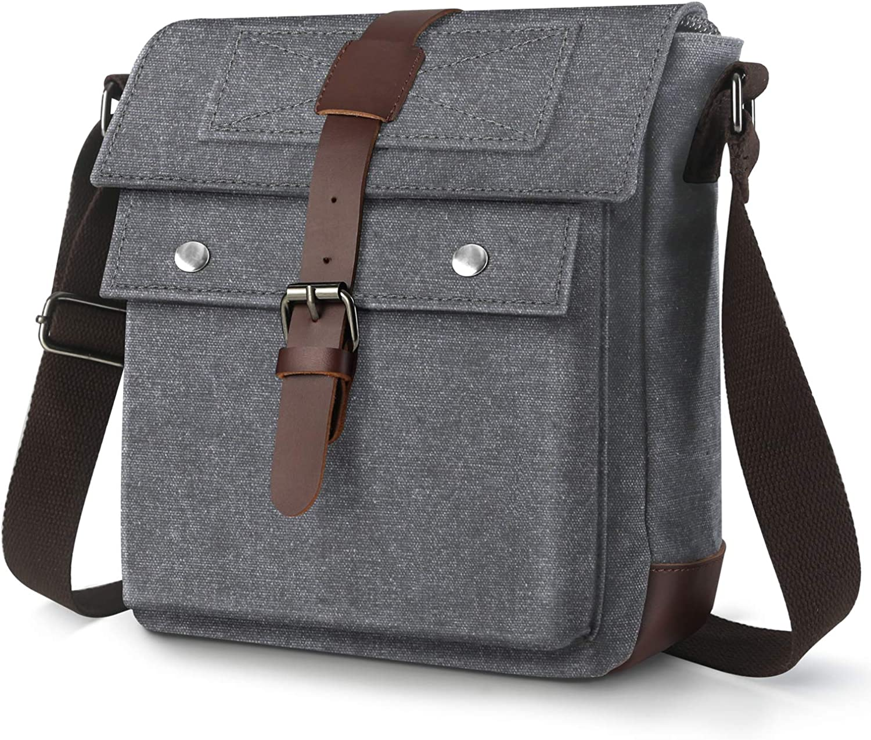 Messenger Bag for Men Canvas Small Crossbody Bag Travel Working Business