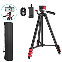 Deals on Waulnpekq Cell Phone Tripod with Carrying Bag