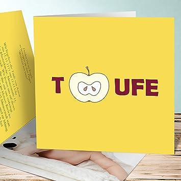 Einladungskarten Taufe Selber Machen Apfel 10 Karten