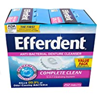Deals on Efferdent Denture Cleaner 252 Piece Tablets