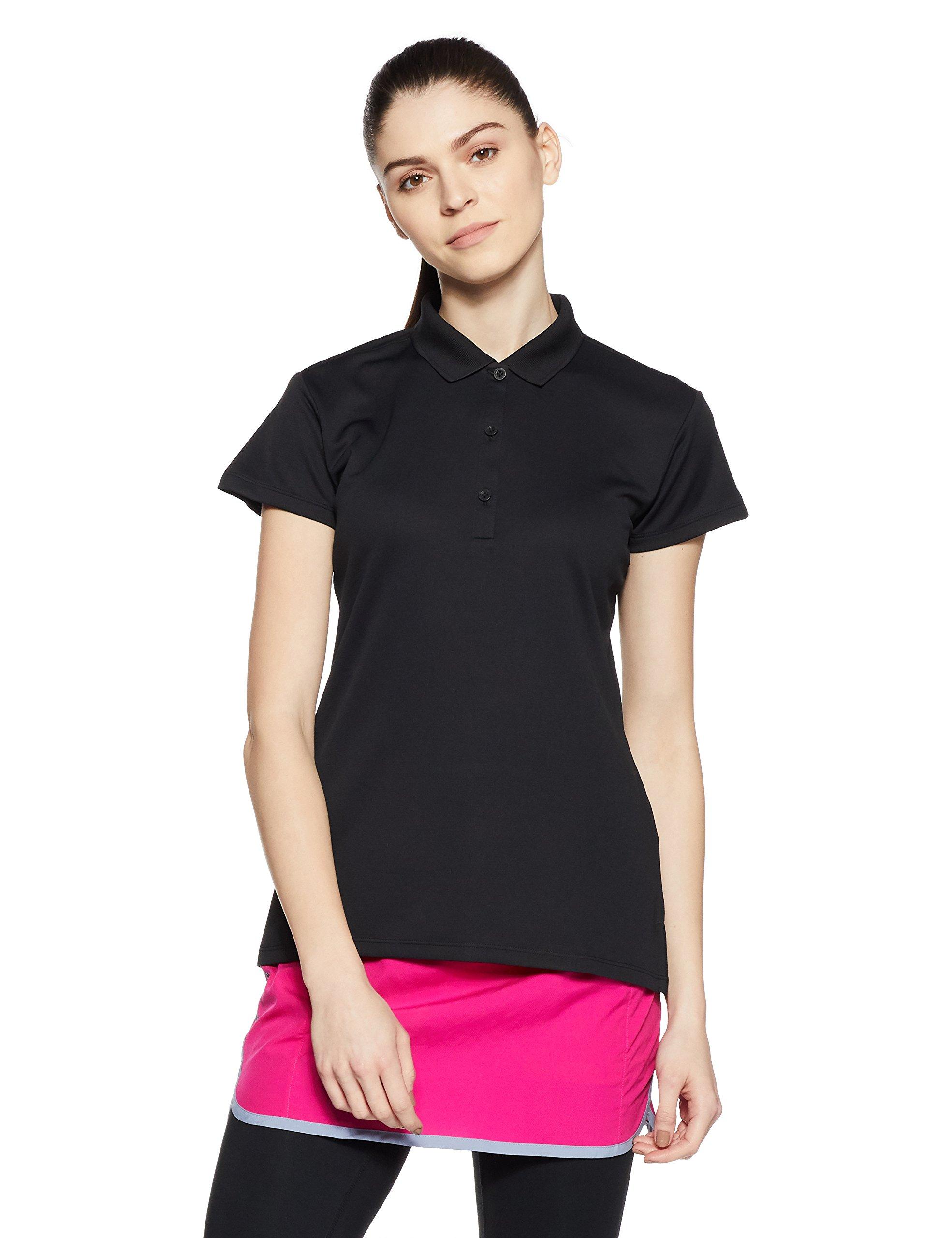 Columbia Women's Innisfree Short Sleeve Polo Shirt, Medium, Black