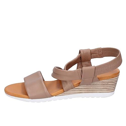 cb0edf3d22b8c0 KEYS Sandales Femme Cuir Beige 41 EU: Amazon.fr: Chaussures et Sacs