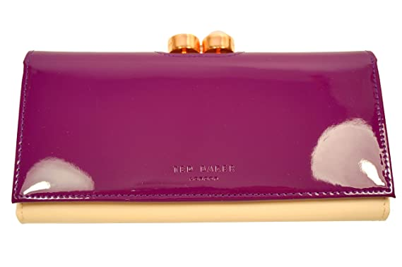d71ad85c2cf Ted Baker Cecilie Pearl Bobble Patent Matinee Purse Grape: Amazon.co.uk:  Clothing