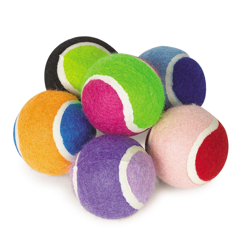 Zanies Mini Tennis Balls for Dogs 6-Packs