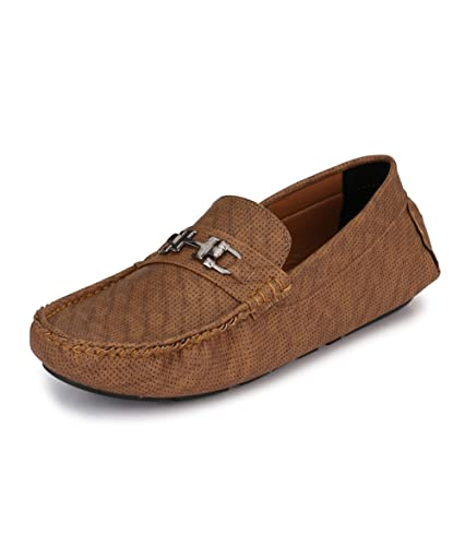 3628a90c4cb Knoos Men Synthetic Leather Driving Shoes (DRIVING02-TAN