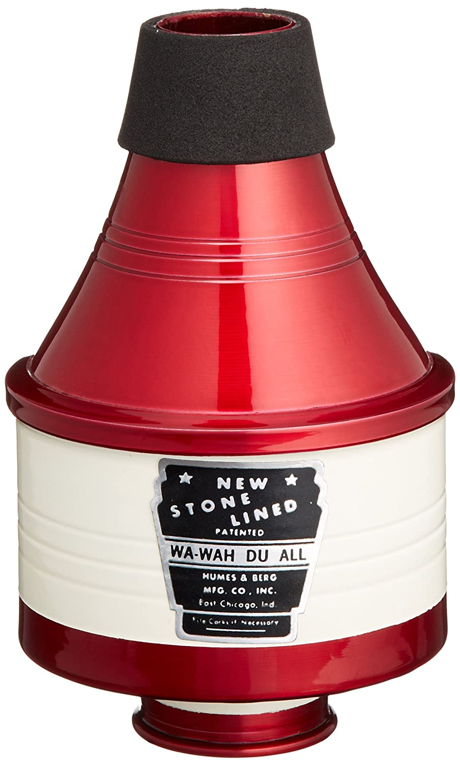 Humes & Berg 111 Stonelined Wa-Wah Red/White Aluminum Trumpet Mute