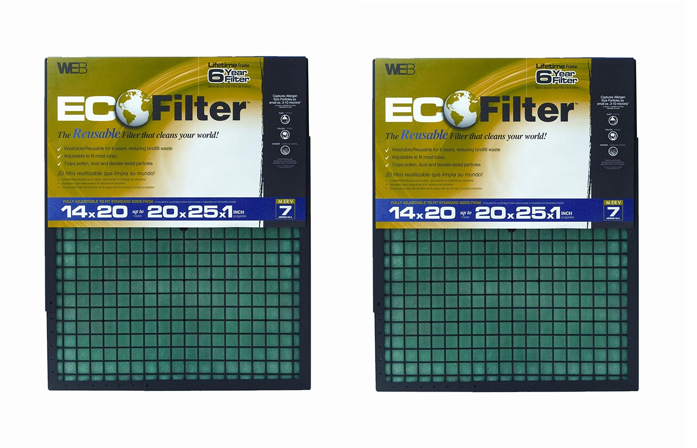 WEB Eco Filter Adjustable, 6 Year (Pack of 2)