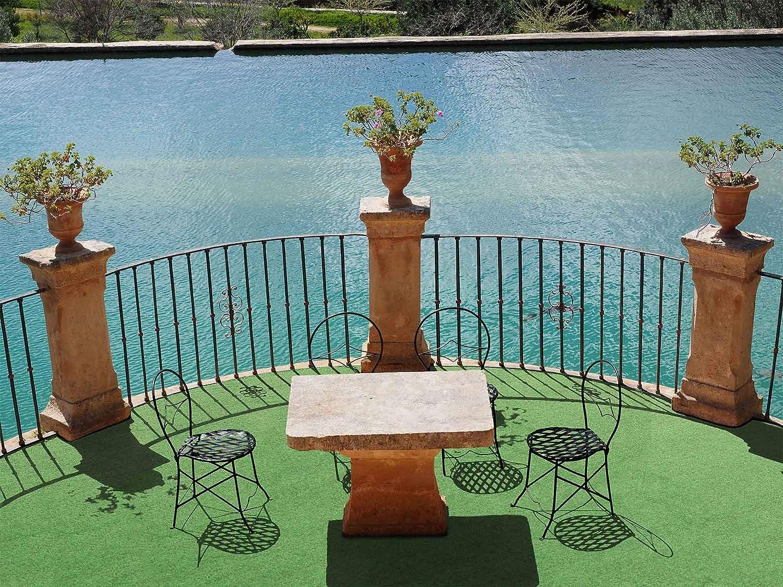 Rasenteppich f/ür Balkon Meterware COMFORT Pool-Unterlage Poolmatte 4,00m x 4,00m Vlies-Rasenteppich mit Noppen Outdoor Teppich Balkon Bodenbelag