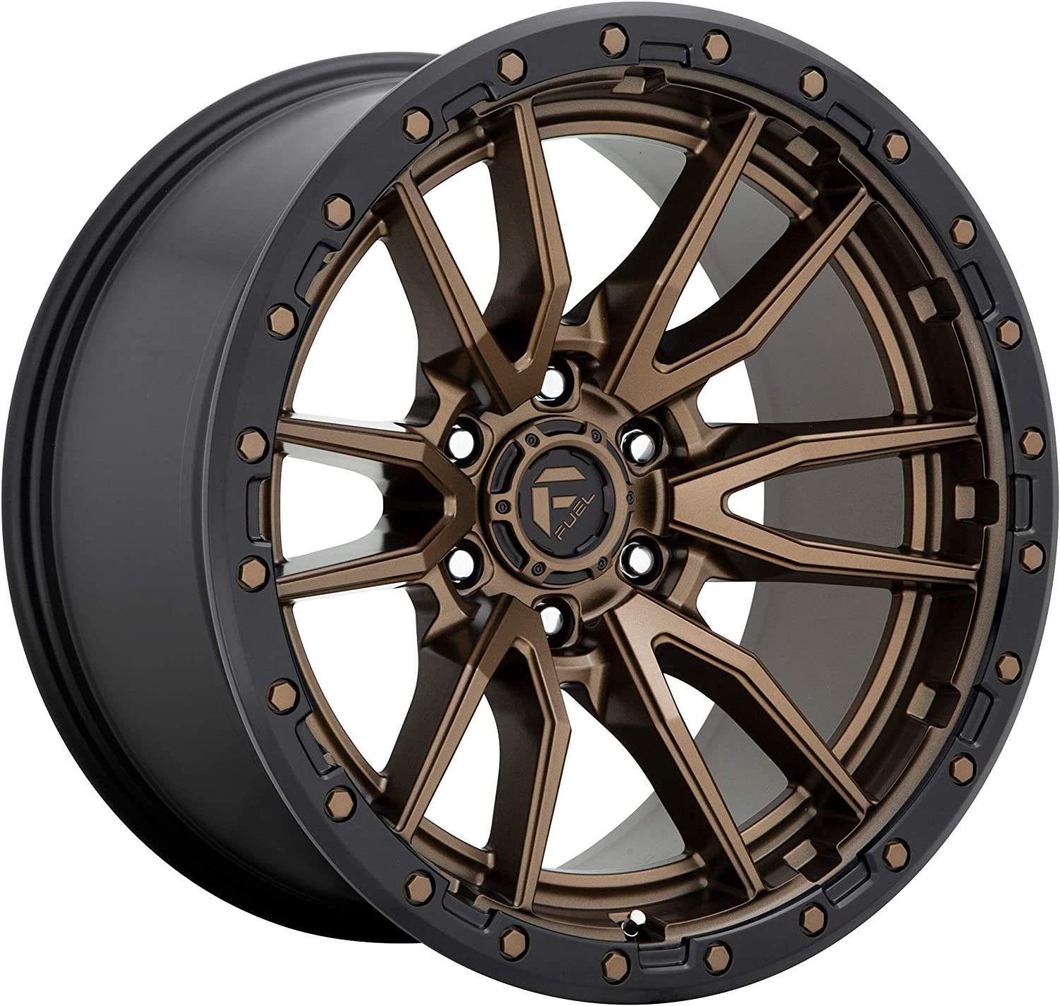 FUEL Rebel ZDB-Matte BRZ BLK Wheel with Painted 17 x 9. inches //6 x 139 mm, 1 mm Offset