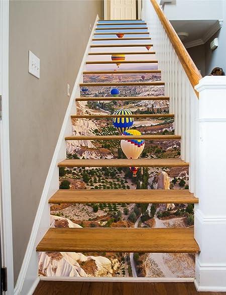 Hot Air RiserArt 37u0026quot; X 14 Painted Stairway Decoration Adhesive Vinyl  Stair Riser Panels Easy