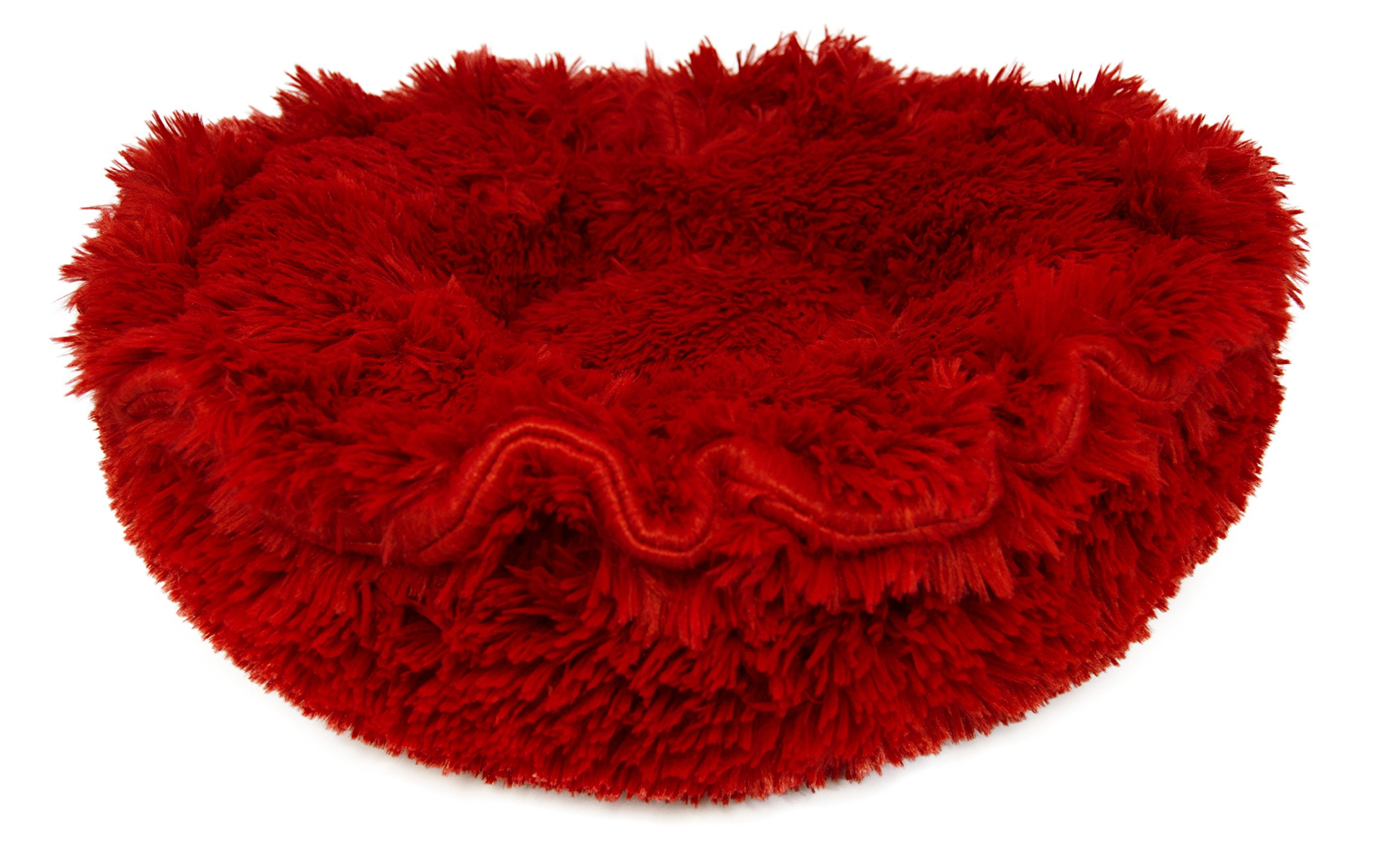 BESSIE AND BARNIE Ultra Plush Lipstick Luxury Shag Deluxe Dog/Pet Lily Pod Bed by BESSIE AND BARNIE (Image #1)