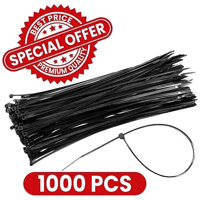 1 opinioni per Confezione di 1000 fascette in plastica per cablaggio 2.5*200mm colore nero
