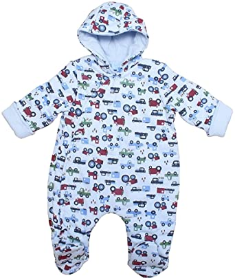a4664e1af Baby Snowsuit All in One Soft Cotton Jersey Baby Boys and Baby Girls ...