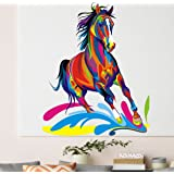 Happy Walls 'Multicolored Horse' Horse Wall Decal/Wall Sticker/Wall Mural