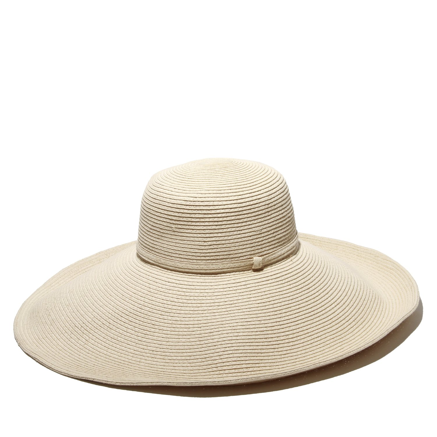 Gottex Women's Belladonna Wide Brim Packable Sun Hat, Rated UPF 50 For Max Sun Protection, Ivory, One Size