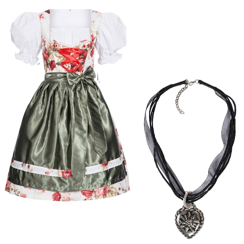 Gaudi-Leathers Femme 3 Pieces Robe Dirndl Set Josie Costume Bavarois pour Oktoberfest Fete DOctobre Carnaval